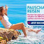 eBookers nur heute mit 100€ Rabatt bei Pauschalreisen ab 500€