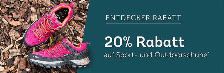 20% Rabatt auf Sport  und Outdoorschuhe bei mirapodo
