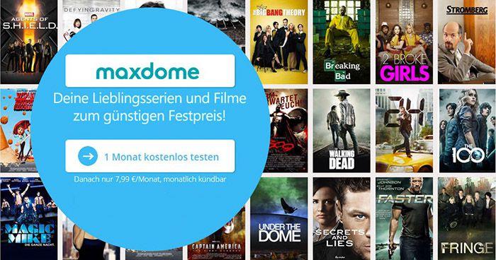 maxdome GRATIS testen + 7€ Amazon.de Gutschein*