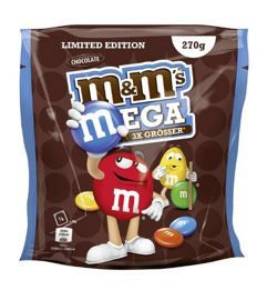 M&Ms MEGA Chocolate   Limited Edition: 5 Beutel (5 x 270 g) ab 10,99€
