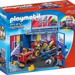 """PLAYMOBIL 6157 – Aufklapp-Spiel-Box """"Motorradwerkstatt"""" für 7,30€"""