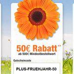 Bis zu 100€ Gutschein bei Plus.de – NUR HEUTE