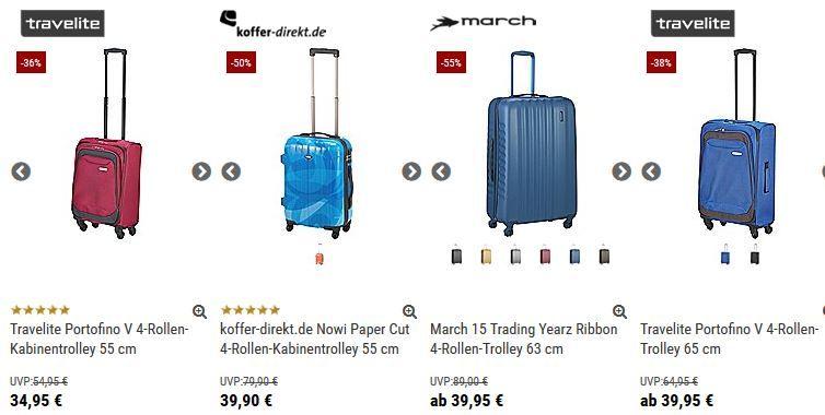 travelite Koffer direkt mit 10% Gutschein auf alle Koffer + 5% bei Vorkasse