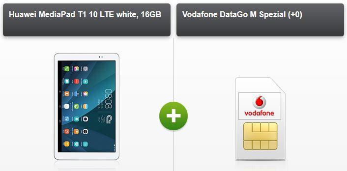 Huawei MediaPad T1 10 LTE + 3 GB Vodafon Datenflat für effektiv 12,49€ mtl.