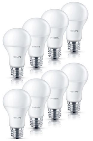 Philips LED Lampe 6 W (40Watt)   8er Pack E27 für 17,99€
