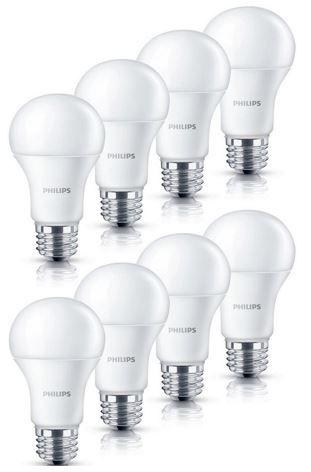 Philips LED Lampe 6 W (40Watt)   8er Pack E27 für 17,99€