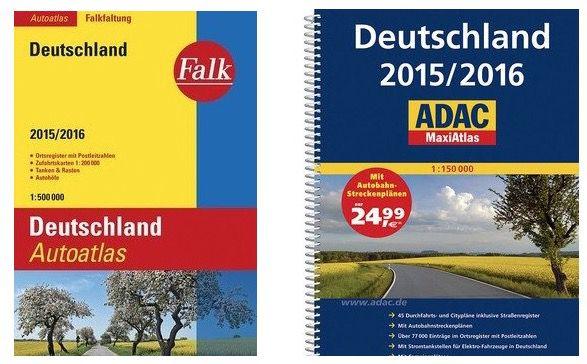 Falk Autoatlas Deutschland für 7,99€ oder ADAC MaxiAtlas für 14,99€