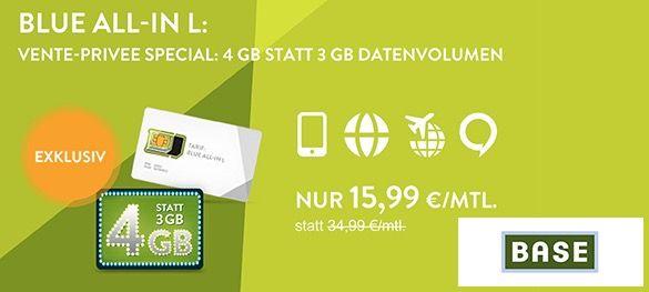 BASE All in Blue LTE Tarife bei vente privee   mehr Datenvolumen als sonst!