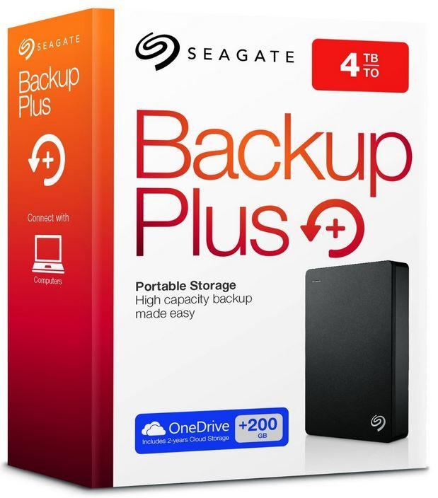 Seagate Backup Plus Portable   externe 4TB Festplatte (2.5) mit 200GB Cloudspeicher für 99€ (statt 117€)
