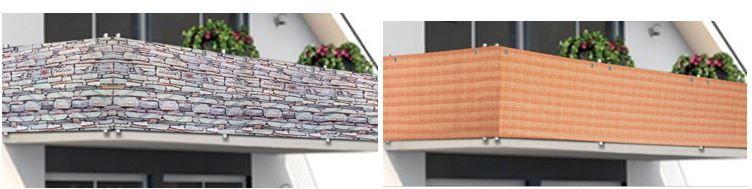 DEUBA Wind und Sichtschutz Balkonbespannung für je 19,95€