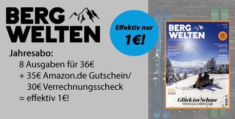 Bergwelten 8 Ausgaben Bergwelten ab effektiv 1€