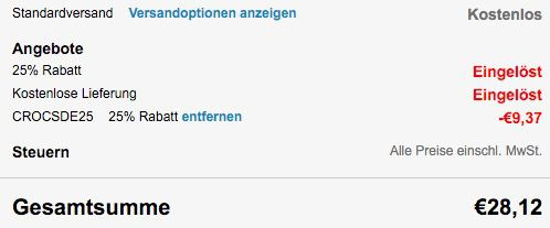 Bildschirmfoto 2016 03 04 um 10.42.41 Crocs Kinderschuhe mit 25% Rabatt + 25% Gutschein + VSK frei