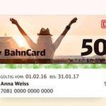 Bahncard 50 für 69€ oder BahnCard 25 für 29,90€ im ersten Jahr   für jeden unter 27 Jahren!