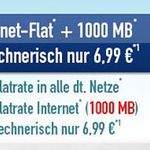 o2 Comfort Allnet Flat mit 1GB Datenvolumen für 6,99€