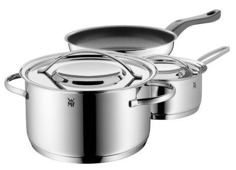 WMF Gala Plus   3 teiliges Kochgeschirr Set für 69,99€ (statt 94€)