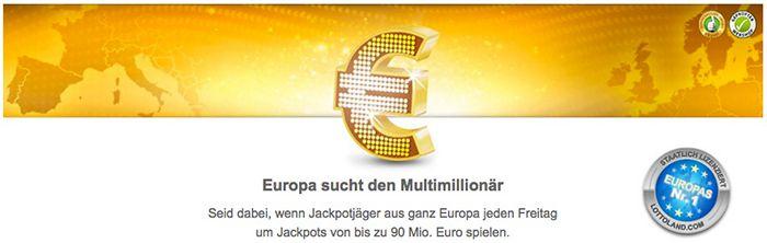 Bildschirmfoto 2016 07 06 um 15.17.03 Lottoland: 3 Tippfelder Eurojackpot (82 Mio. Jackpot!) + 15 Rubellose für 0,99€ für alle Neukunden