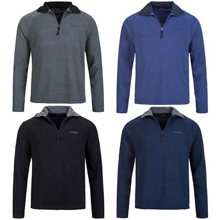 Pierre Cardin Herren Fleece Sweatshirt bis 6XL für je 12,99€