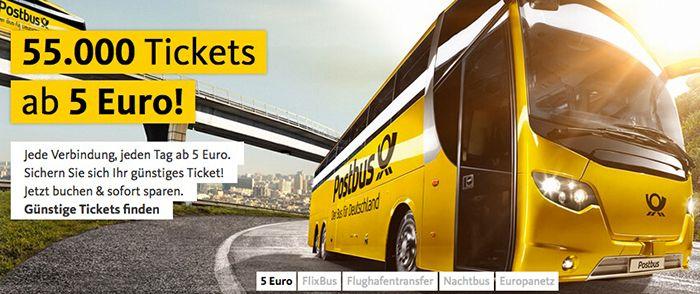 Bildschirmfoto 2016 08 22 um 13.29.18 Postbus: Fernbus Tickets ab 5€ + 3€ Gutschein ab 10€