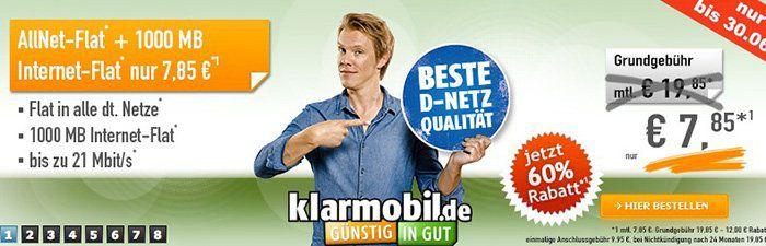 So günstig wie noch nie! Telekom Allnet Flat mit 1GB Daten für 7,85€ monatlich