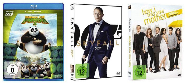 5€ Sofort Rabatt auf Blu rays & DVDs