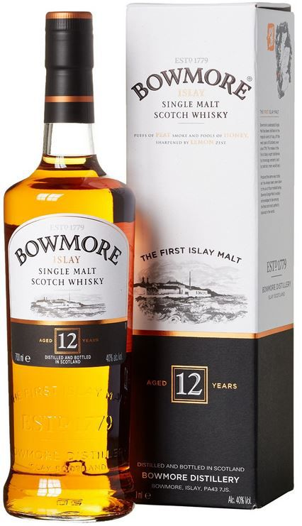 Bowmore Bowmore 12 Jahre Islay Single Malt Scotch Whisky (1 x 0.7 l) für 26,99€