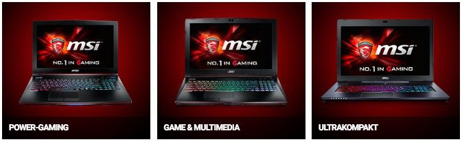 10% Rabatt auf MSI Gaming Notebooks