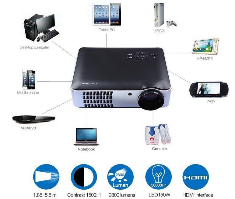 DBPOWER   Beamer 2800 Lumen 2 x HDMI für nur 199€