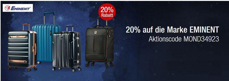 Eminet EMINENT Koffer und Taschen mit 20% extra Rabatt bei den Galeria Kaufhof Mondschein Angeboten