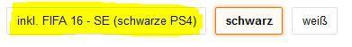 FiFa16 Aktion Playstation 4 Konsole (500GB) [CUH 1216A] für 299,97€ oder + FIFA 16 für 329,97€