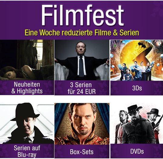 Amazon Filmfest 1 Woche reduzierte Filme und Serien +  3 Serien für nur 24€