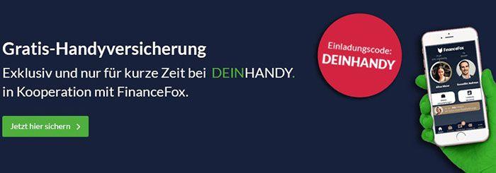 FinanceFox Gratis Handyversicherung für 1 Jahr   selbstkündigend!