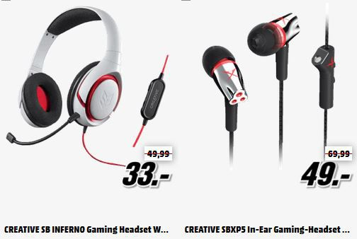 Gaming Headsets Creative Bluetooth Lautsprechern und Gaming Headsets in der MediaMarkt Tiefpreisspätschicht