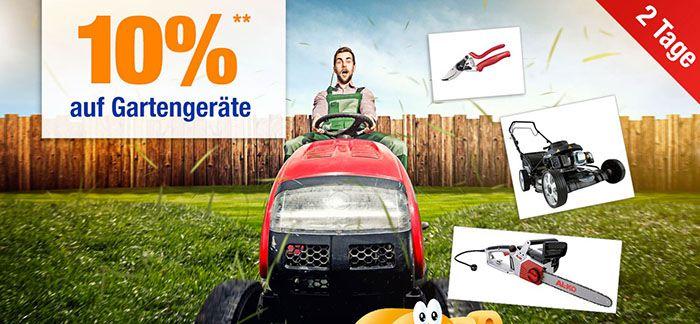 Gartengeraete Plus.de mit 10% Rabatt auf Gartengeräte   nur noch heute!