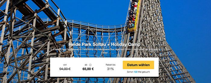 Heide Park 2 5 Tage Heide Park Soltau + Holiday Camp mit HP ab 65€ p.P.