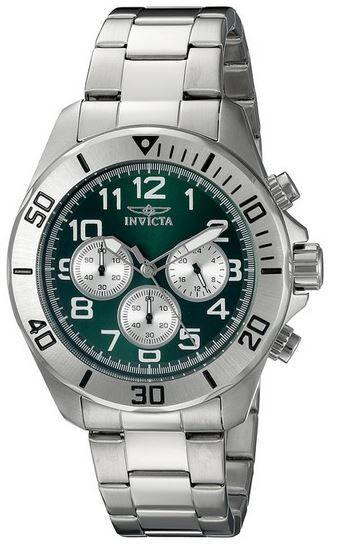 Invicta18007   Unisex Armbanduhr aus versilberten Edelstahl für nur 65,66€