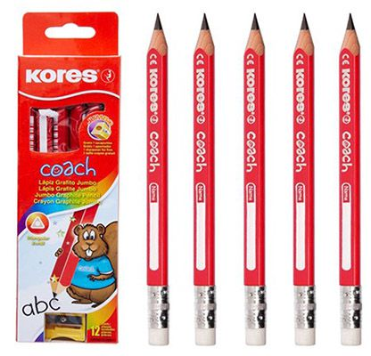 Kores Coach Bleistift 12er Pack Kores Coach Bleistifte + gratis Anspitzer ab 5,91€ (statt 15€)