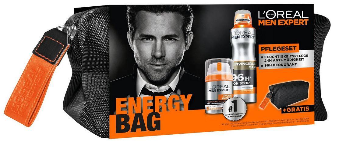Kulturbeutel LOréal Men Expert Geschenkset Energy Bag + Pflegeset + Kulturtasche ab 8,09€