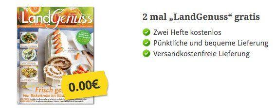 2 Ausgaben LandGenuss komplett gratis