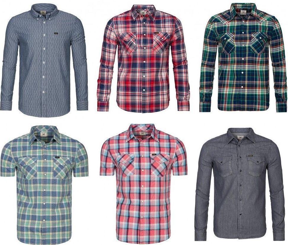 Lee Herren Lang  und Kurzarmhemden für je 19,95€