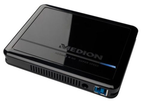 Medion P82755 HDDrive n go Medion P82755 HDDrive n go   1TB USB 3.0 Festplatte für 39,99€ (statt 65€)
