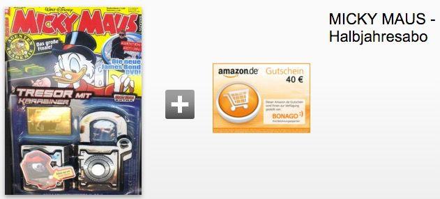 Micky Maus 20 Ausgaben Micky Maus für effektiv 34€