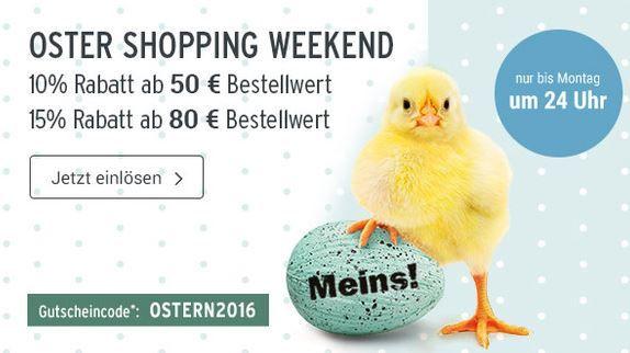 Oster Shopping Weekend Tchibo Osterangebot mit bis zu 15% extra Rabatt