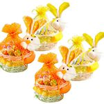 4er Pack Weide Osterkörbe mit Häschen für 9,99€