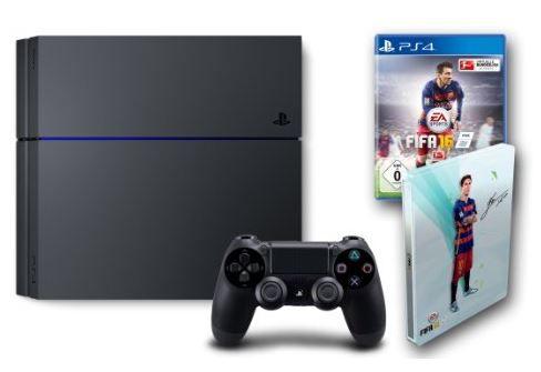 Playstation 4 Konsole (500GB) [CUH 1216A] für 299,97€ oder + FIFA 16 für 329,97€
