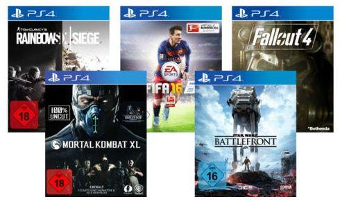 PS4 Spiele 5 TOP PS4 Spiele für je 39,90€