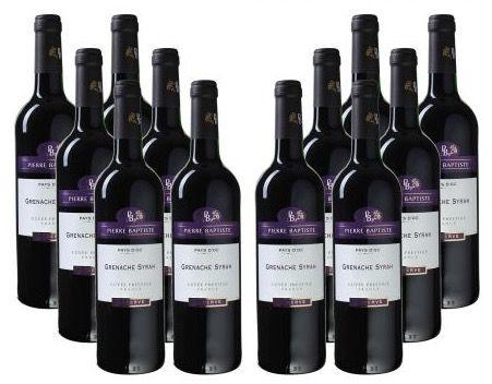 12 Flaschen Pierre Baptiste Syrah Reserve für 57,48€