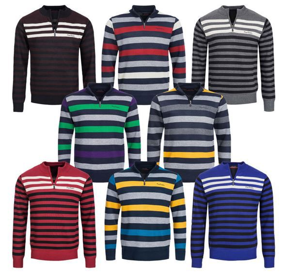 Pierre Cardin Herren Sweatshirt gestreift für je 13,99€