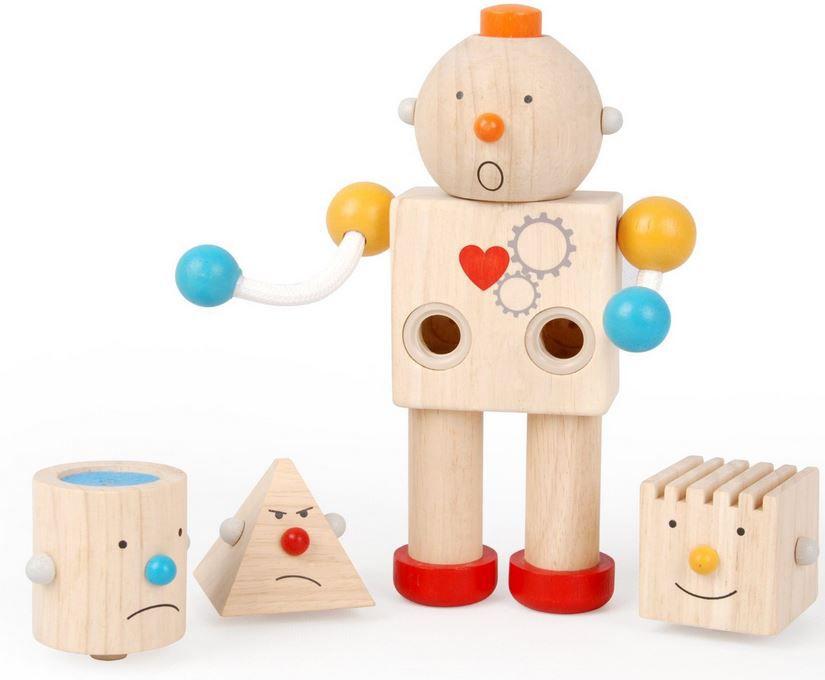 PlanToys 1355183   Geo Holz Roboter statt 23€ ab nur 11,79€
