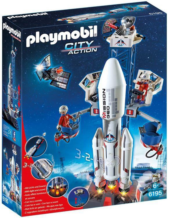Playmobil Rakete PLAYMOBIL 6195   Weltraumrakete mit Basisstation für 33,74€