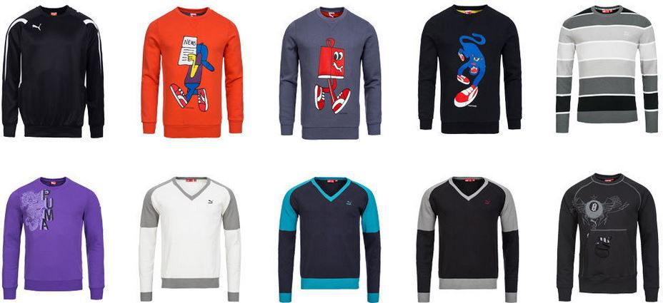 PUMA   Herren Hoodies und Sweatshirts viele Motive für je 21,99€